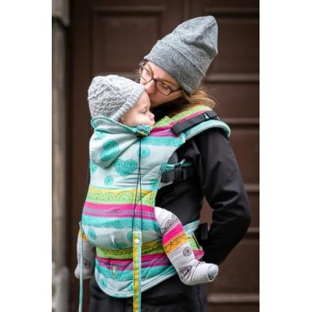 Porte bébé Préformé - Mint Lace - 100% coton - Taille Toddler