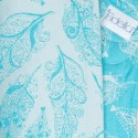 Mei Tai FlyTai - Feather Rain - Scuba blue - Fidella (new size)