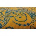 Echarpe Yaro - Ava Contra Teal Orange Glossy - 100% coton