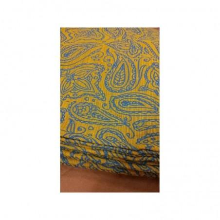 Echarpe Yaro - Lace Contra Yellow Blue Flame - 100% coton