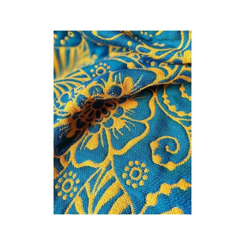 Sling Yaro - Ava Contra Teal Orange Glossy - 100% coton