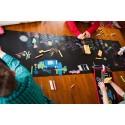 Ardoise géante noire - Jaq Jaq Bird - + 4 craies couleurs + porte-craie