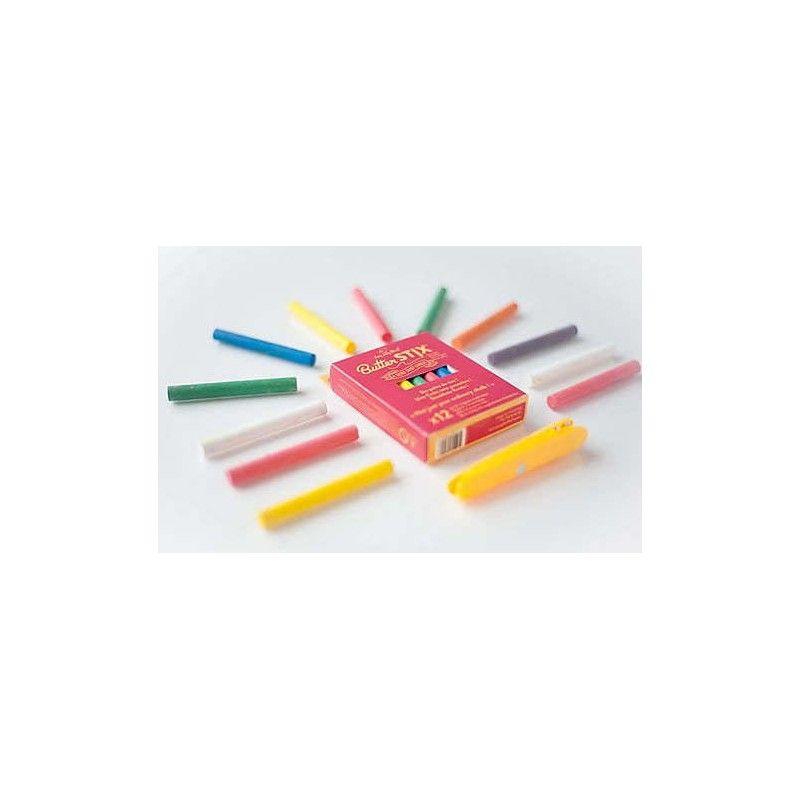 12 craies colorées + 1 porte craie - Jaq Jaq Bird