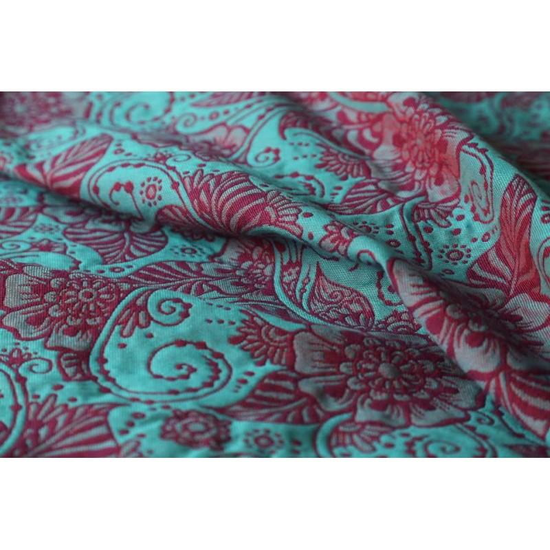 Echarpe Yaro - Yaro Ava Ultra Coral Purple Turkis Wool Tencel - 40% coton/30% laine/30% tencel