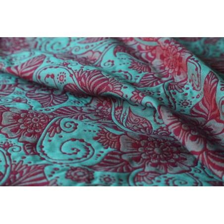 Echarpe Yaro - Yaro Ava Ultra Coral Purple Turkis Wool Tencel - 40% coton/30% laine/30% tencel - 2nd Grade