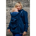Manteau Softshell - Navy Blue with Little Herringbone Illusion