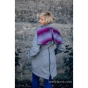 Manteau Softshell - Gray Melange with Little Herringbone Inspiration
