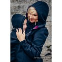 Manteau Softshell - Black with Little Herringbone Inspiration