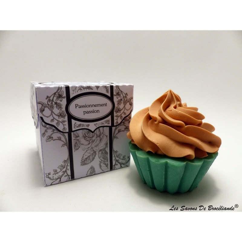 Savon Cupcake - Passionnément Passion - Les Savons de Brocéliande