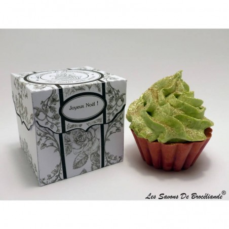 Savon Cupcake - Joyeux noël - Les Savons de Brocéliande