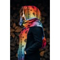 LennyHood - Echarpe de cou - Rainbow Lace Dark & Lapis Lazuli - Lennylamb