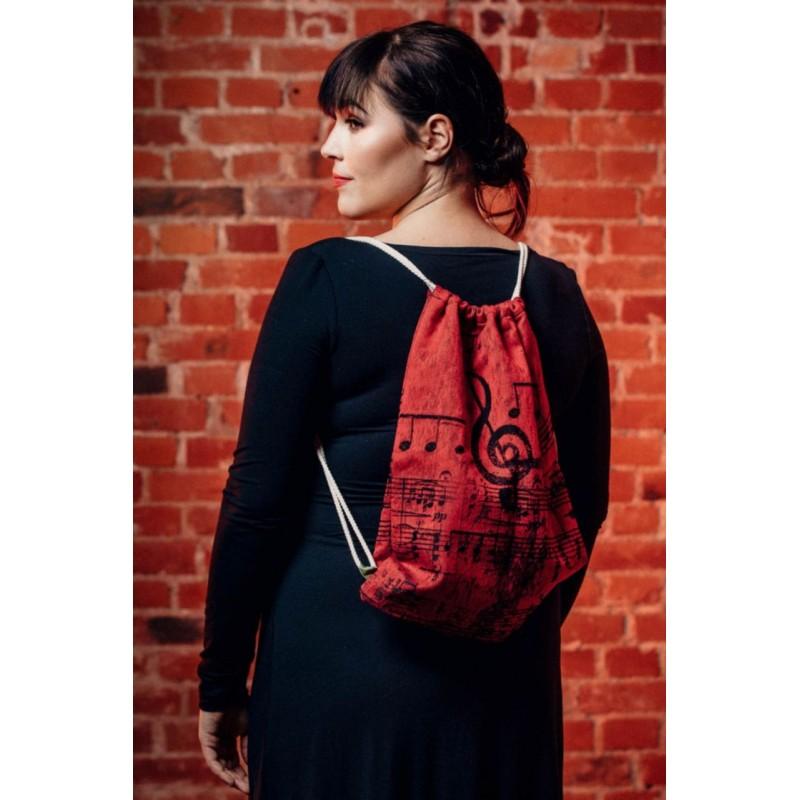 Sac à lanières Lennylamb - Symphony Flamenco - 100% coton - 35cm x 45cm