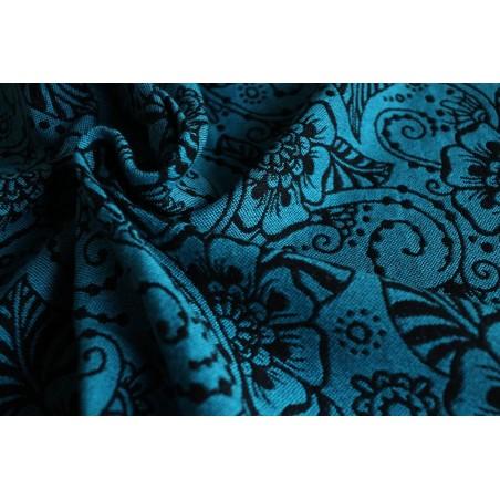 Echarpe Yaro - Ava Contra Black-Blue Glam - 99% coton / 1% glitter