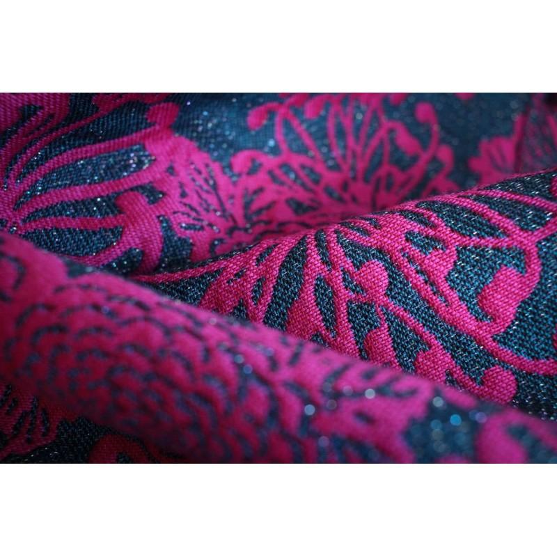 Echarpe Yaro - Chrys Contra Black Pink Wool - 69% coton / 30% laine / 1% paillettes