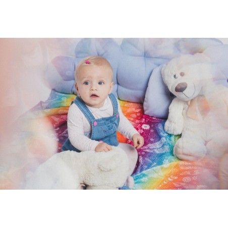 Pack de 2 Langes bébé - Dragonfly Rainbow et Under the Leaves - Lennylamb
