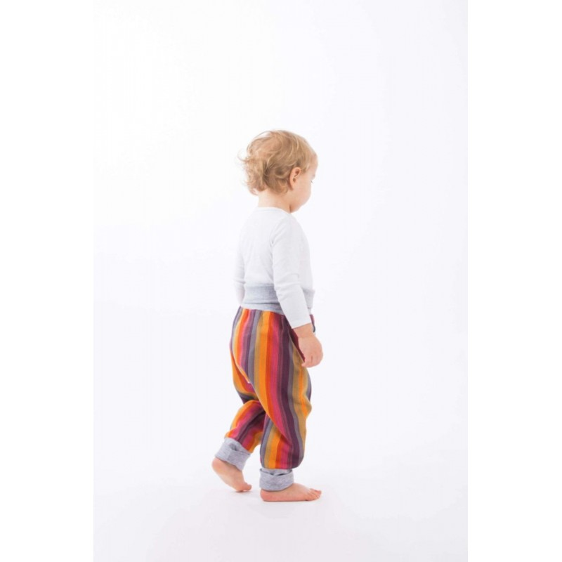 LennyBaggy - Sarouel Lennylamb - Rainbow Red Cotton & Grey