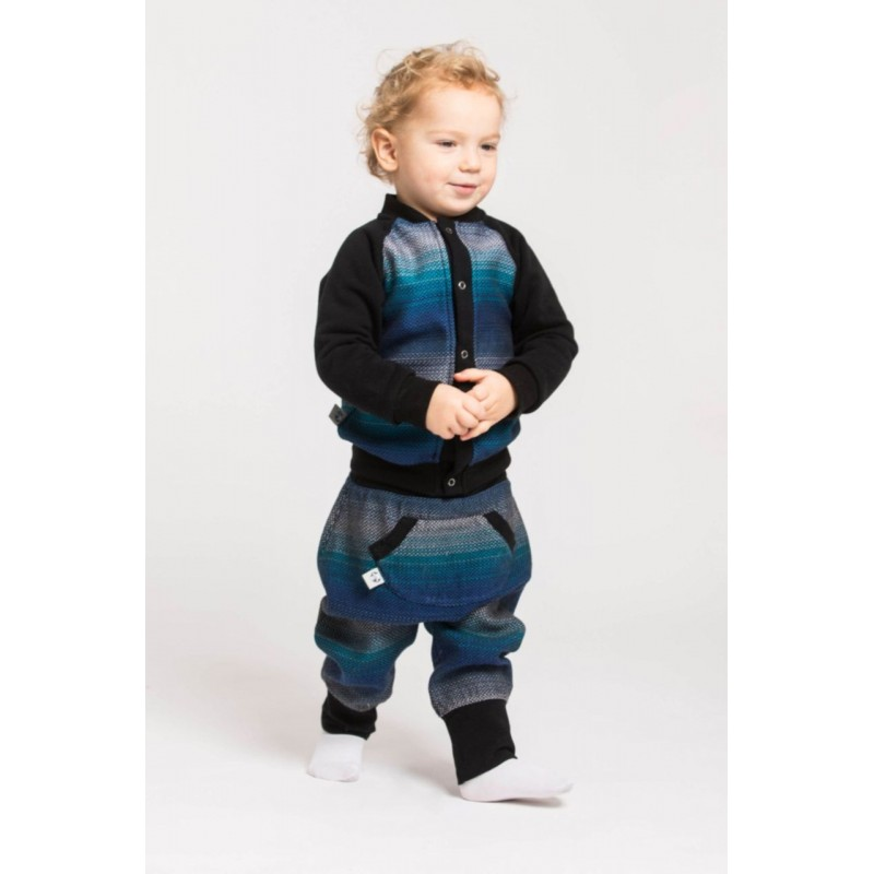 LennyBomber - Gilet mixte Lennylamb - Little Herringbone Illusion & Black