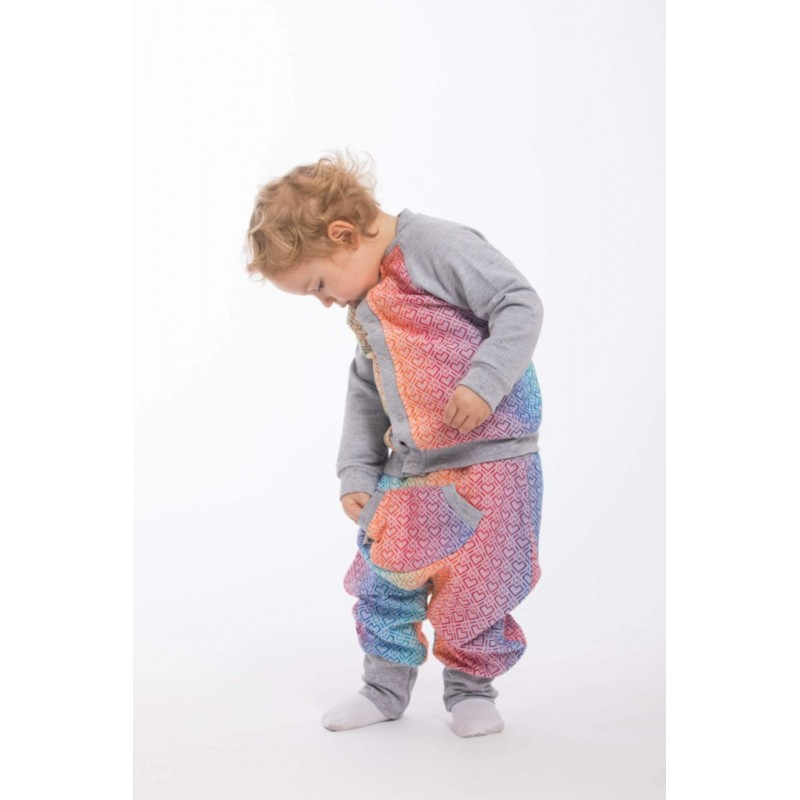 LennyBomber - Gilet mixte Lennylamb - Big Love - Rainbow & Grey