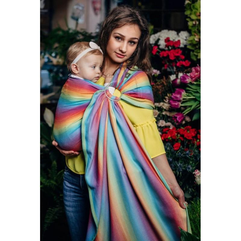 Sling Lennylamb Jacquard - Little Herringbone Rainbow Light