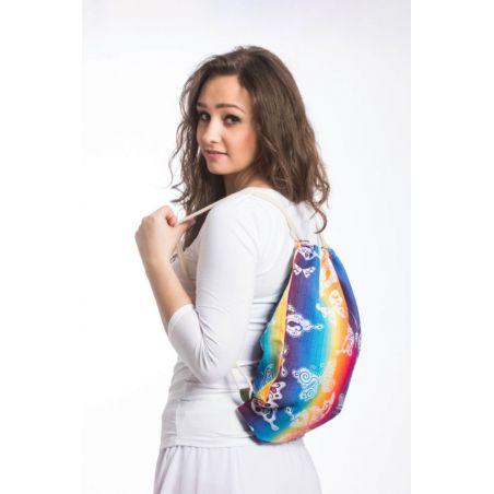 Sac à lanières Lennylamb - Butterfly Rainbow Light - 100% coton - 35cm x 45cm