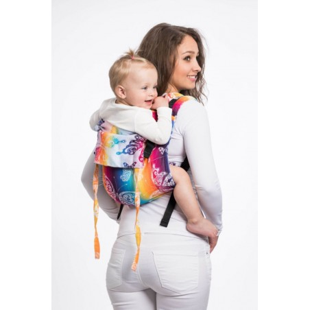 Onbuhimo Lennylamb - taille Toddler - Butterfly Rainbow Light