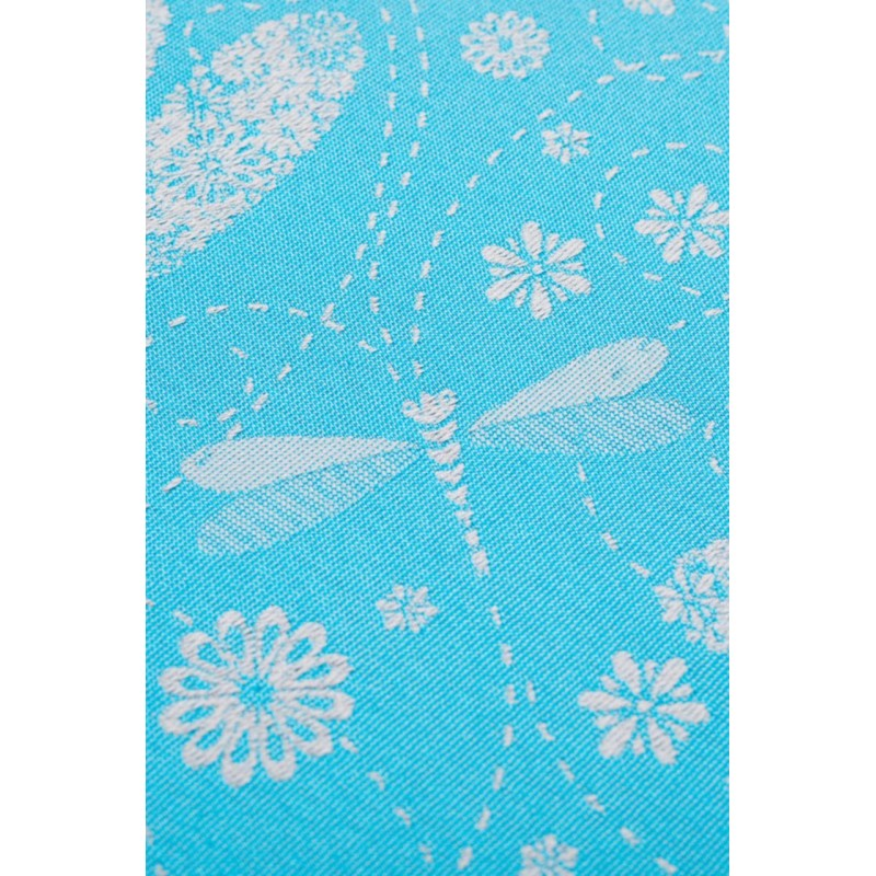 Porte poupon - Dragonfly Grey & Turquoise - Lennylamb
