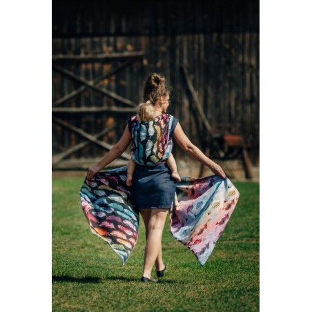 Echarpe Lennylamb - Painted Feathers Rainbow Dark