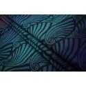 Echarpe Yaro - Dandy Aqua Grad Black Wool Blend - 55% coton/35% laine/5% soie/5% cashmere