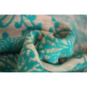 Echarpe Yaro - Chrys Puffy Aqua Natural - 75% coton / 25% chanvre
