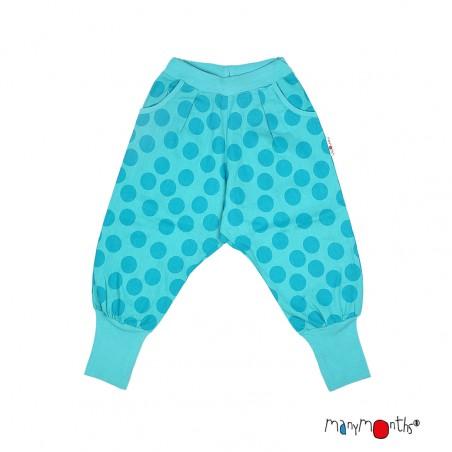 Manymonths Eco Hempies - Slouchy Trousers UNIQUE - Turquoise