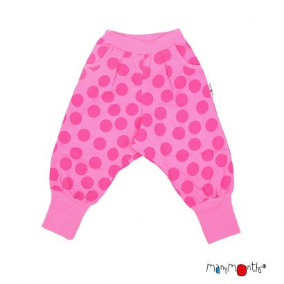 Manymonths Eco Hempies - Slouchy Trousers UNIQUE - Big Dots Pink