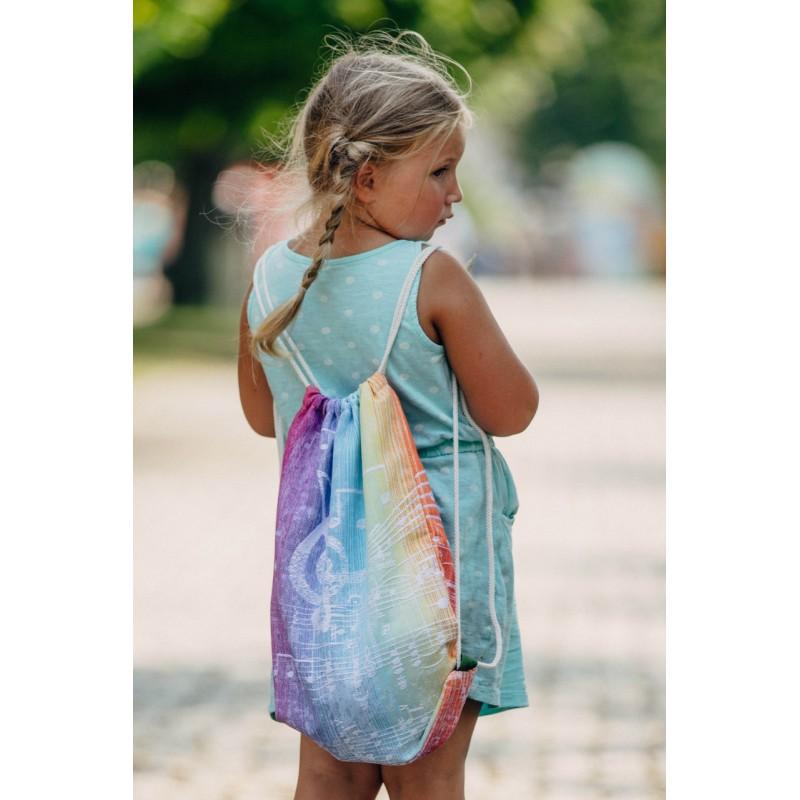 Sac à lanières Lennylamb - Symphony Rainbow Light - 100% coton - 35cm x 45cm
