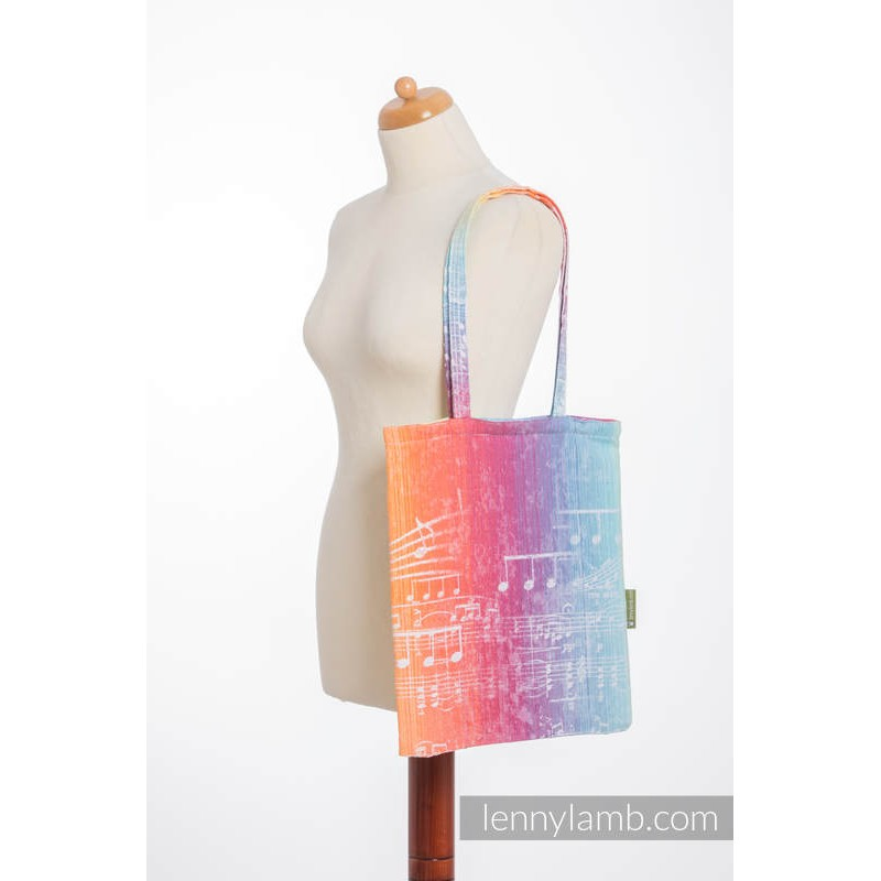 Sac Shopping Lennylamb - Symphony Rainbow Light - 33cmx39cm