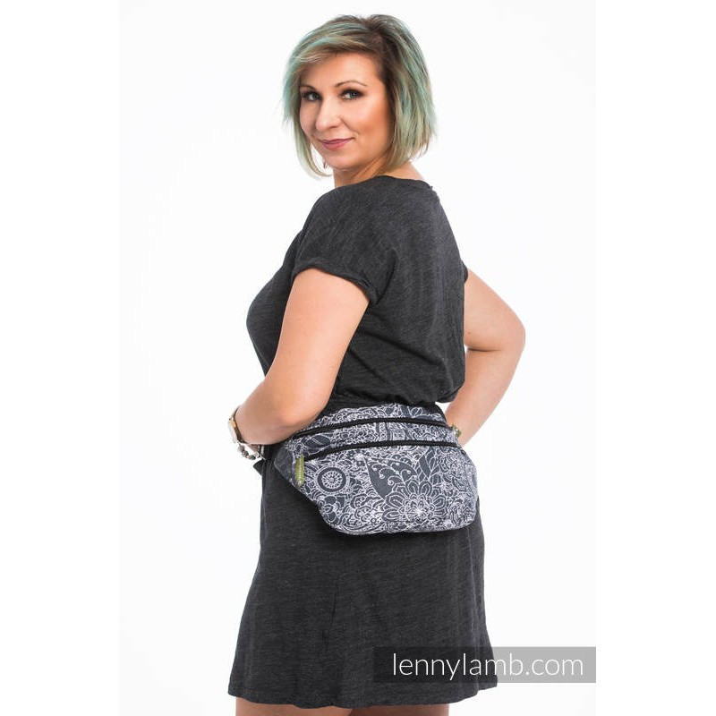 Sac banane large - Lennylamb - Wild Wine Grey & White