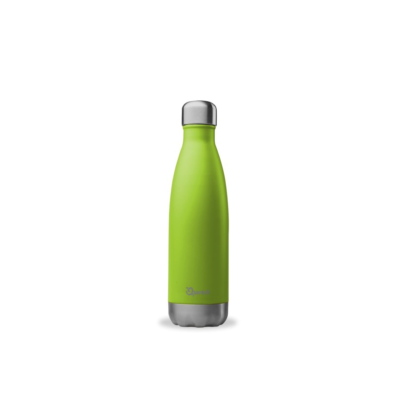 Bouteille isotherme Inox Vert - Qwetch - 500ml