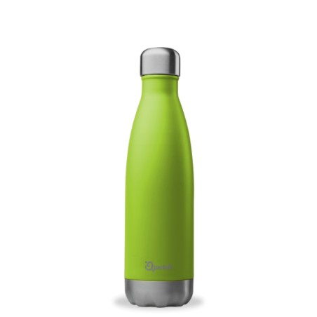 Bouteille isotherme Inox Vert Anis - Qwetch - 500ml