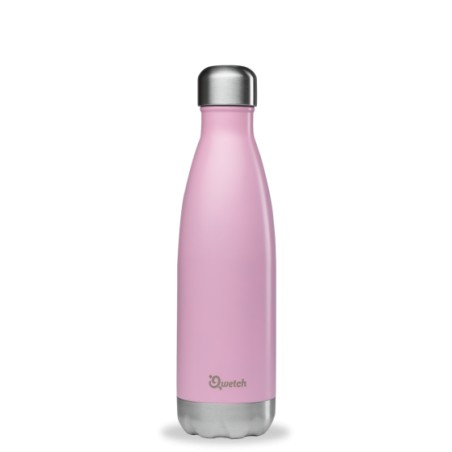 Bouteille isotherme Inox Rose Pastel - Qwetch - 500ml