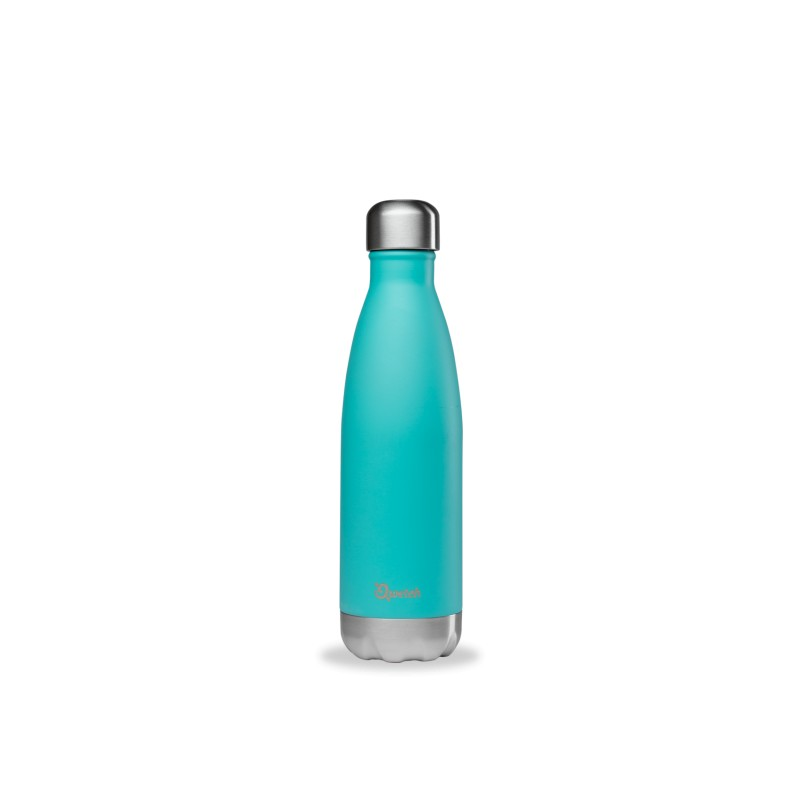 Bouteille isotherme Inox Bleu Pastel - Qwetch - 500ml