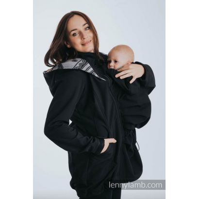 Manteau Softshell - Black with Glamorous Lace Reverse