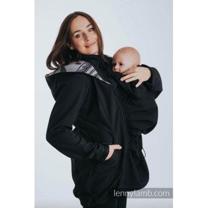 Manteau Softshell - Black with Little Herringbone Inspiration