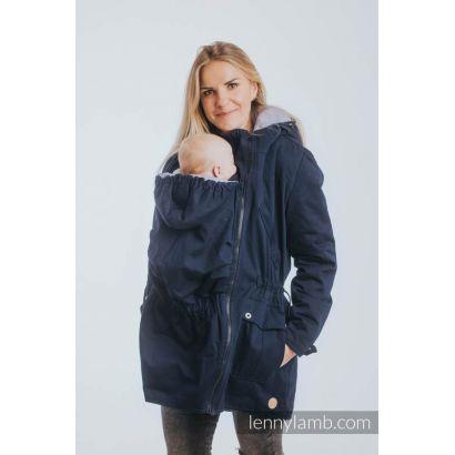 """Manteau de portage """"Two Sides"""" de Lennylamb - Navy Blue & Gris"""