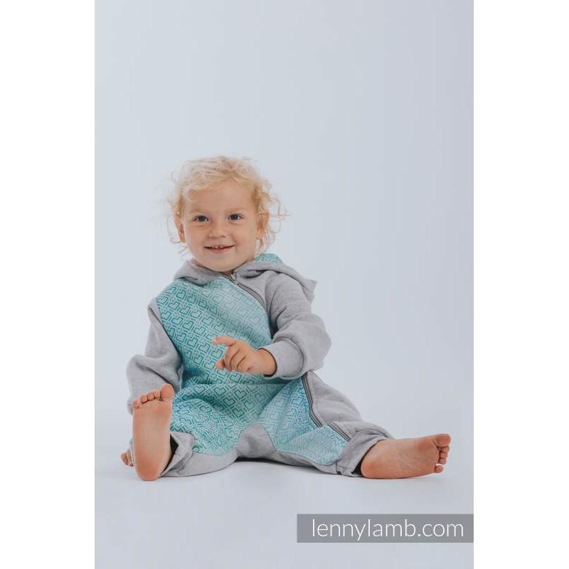 Combinaison bébé polaire - Black with Little Herringbone Inspiration - Lennylamb