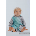 Combinaison bébé sweat - Gray Melange with Big Love Mint - Lennylamb