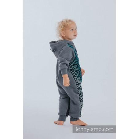 Combinaison bébé sweat - Jeans & Trinity Cosmos - Lennylamb