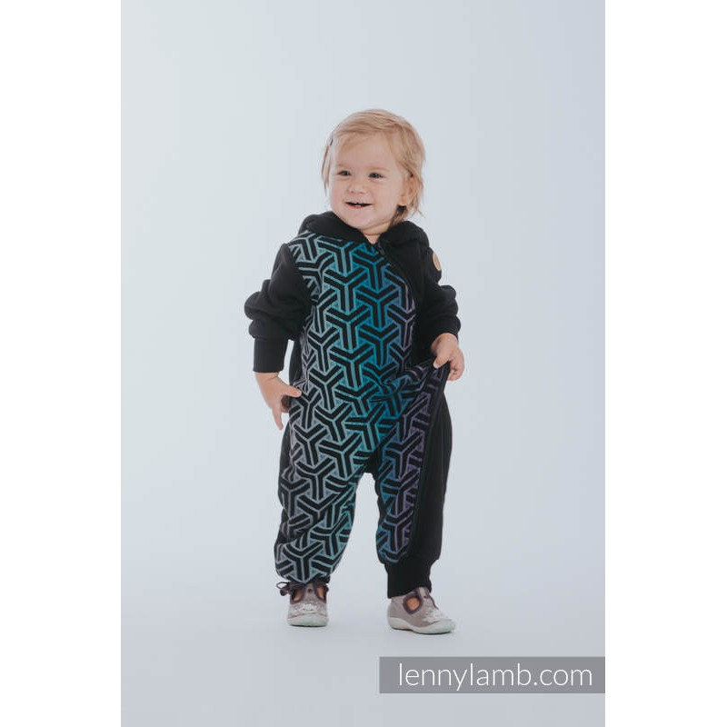 Combinaison bébé polaire - Black with Little Herringbone Inspiration - Lennylamb