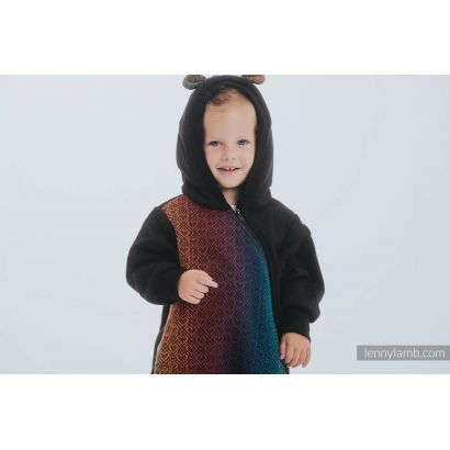 Combinaison bébé sweat - Black & Big Love Rainbow Dark - Lennylamb - 4
