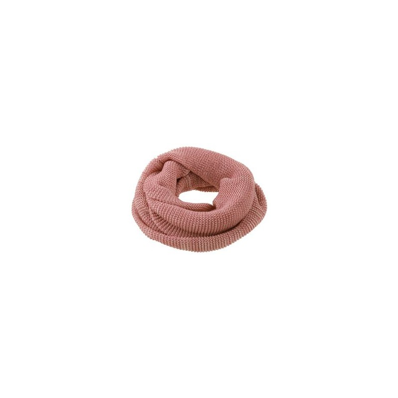 Snood en laine tricotée - Rose & Naturel - Disana