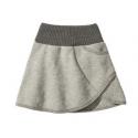 Jupe en laine bouillie - Grey - Disana