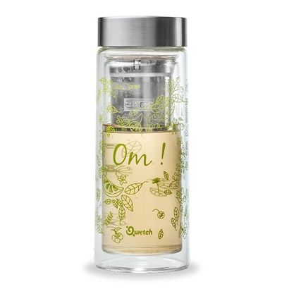 Théière en verre Om Vert - Qwetch - 320ml - 2