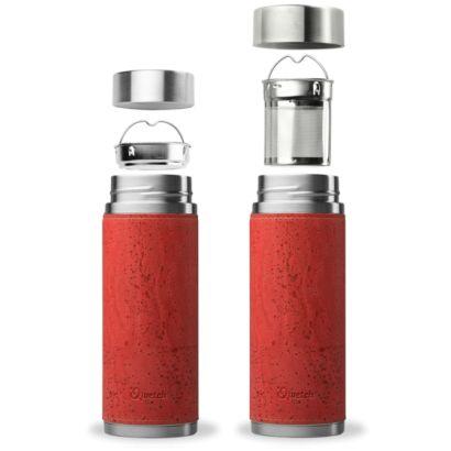 Fourreau en liège pour théière - Qwetch - Coloris rouge - 1